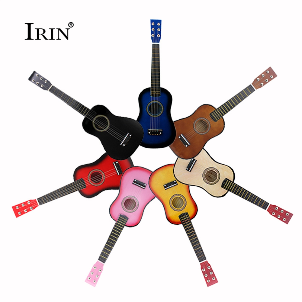 In Stock Small Bass Acoustic 23 Inch Guitar 6 String OME Toy 7 Color High Quality Hawaiian Ukelele Concert Ukulele Free Shipping