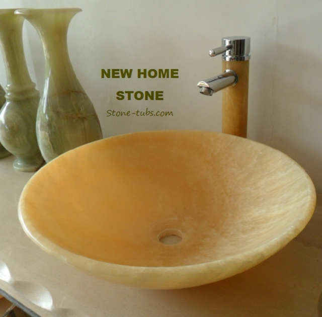 Vanity Sink Onyx 2015 Modern Natural Onyx Stone Bathroom Vessel Sink ...