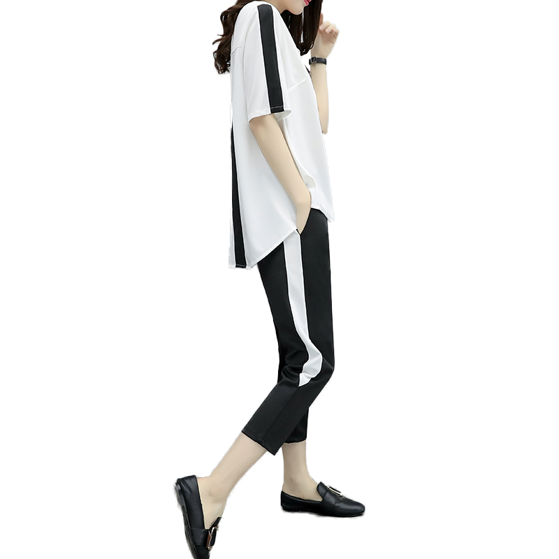 Casual 1 Femminile Dimensioni A Maniche Nuovo Vestito Allentato Grandi Estate Corte 2 Di Due Dd75 Marea Serie Modo Pantaloni Cqw4xf7B7g