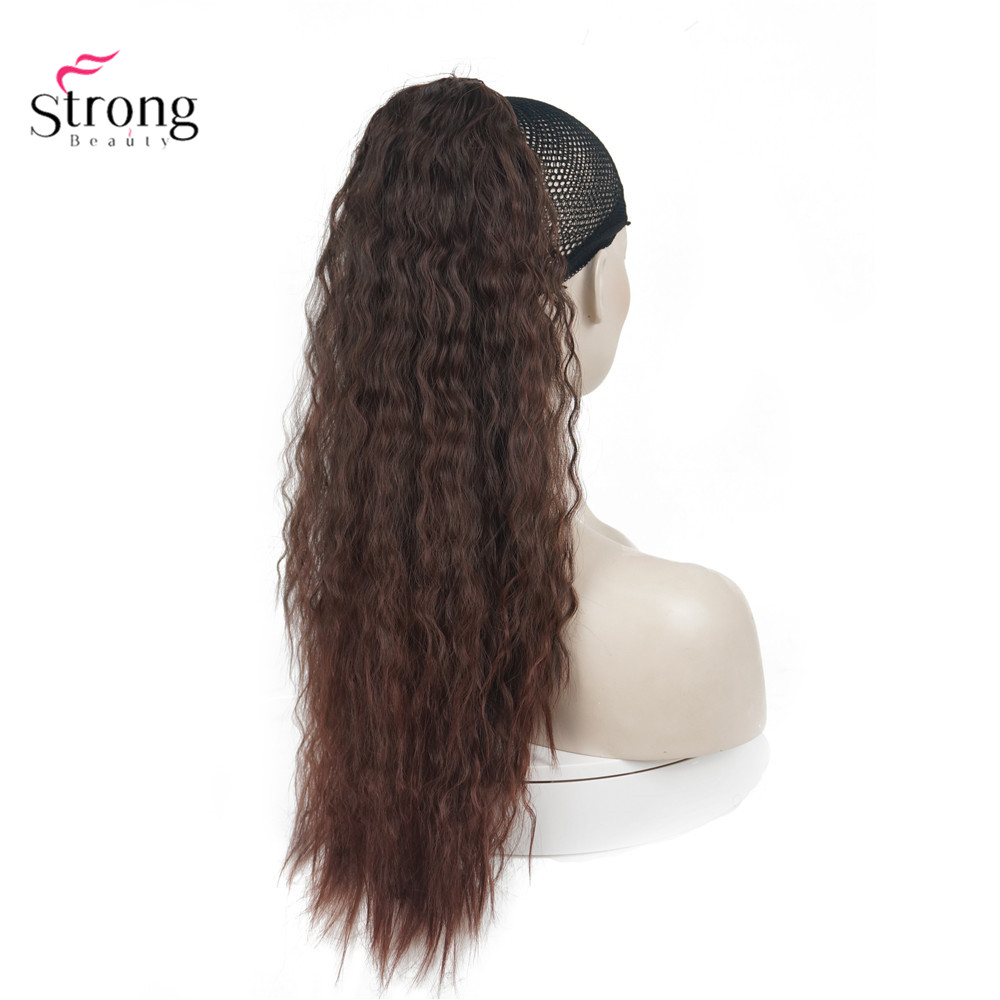 Big SaleStrongbeauty Wig Ponytail Hair-Extension Synthetic-Hair Long-Drawstring Curly 24inch-Hairpieces├