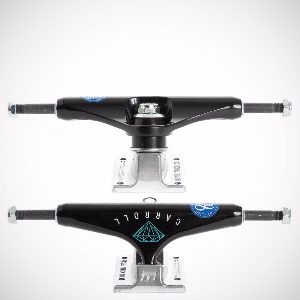 Royal 2PCS Black Skateboard Trucks 5.25 Middle Hollow Truck Skate board Bridge for Skate Deck Aluminum Skateboard Bracket футболка tom tailor 1038413 09 70 6593