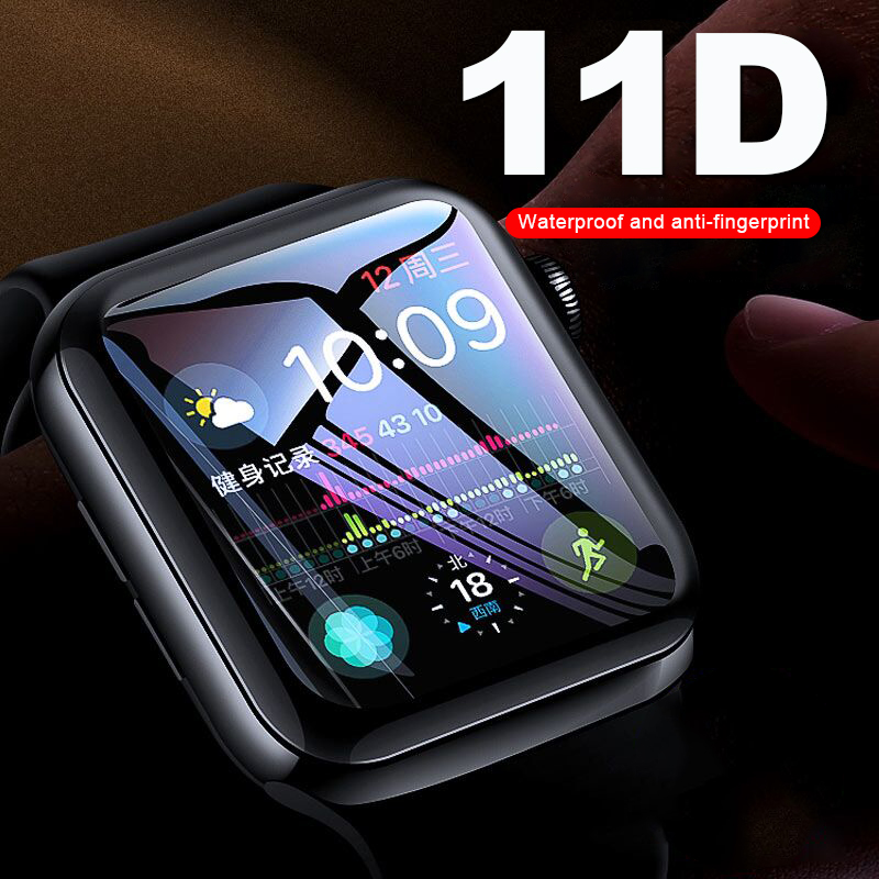 11D Curved Screen Protector Glass On The For Iwatch 1 2 3 4 Tempered Glass Film For Apple Watch 38 40 42 44mm Protective Glass