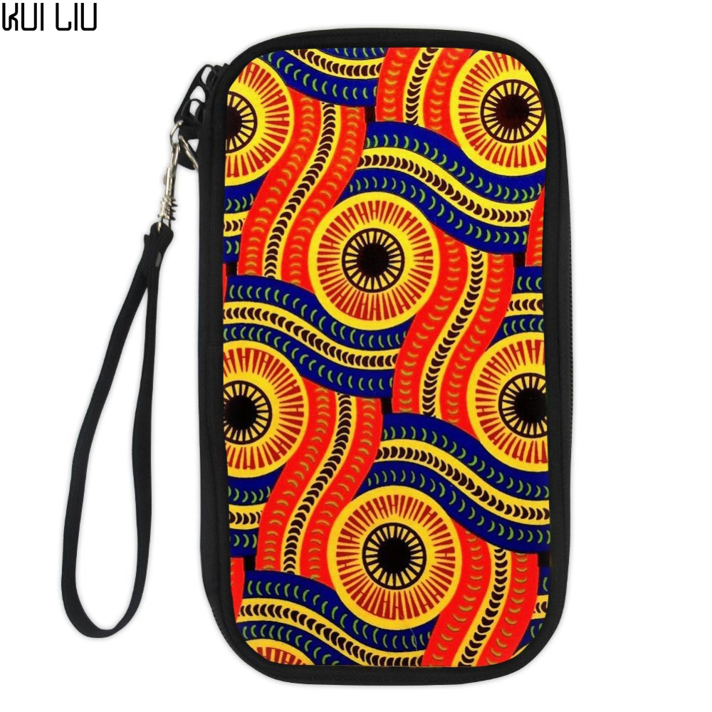 Passport Cover Bernese Cartoon African Traditional Printed Small Drivers License Wallets Money Bag Documents Case Organizer