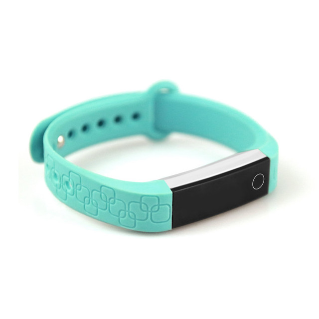 Aluminum Alloy Wristband Micro K Sports Bracelet Dynamic HR Monitor Smart Band for Facebook WhatsApp Message Alerts Fit Bands