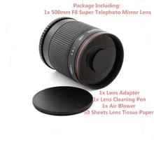 Super teleobjetivo 500mm f/8 lente de espejo para Samsung NX NX 11, NX 20, NX 30, NX 100,NX 1100, NX 2000, cámara de NX 3000