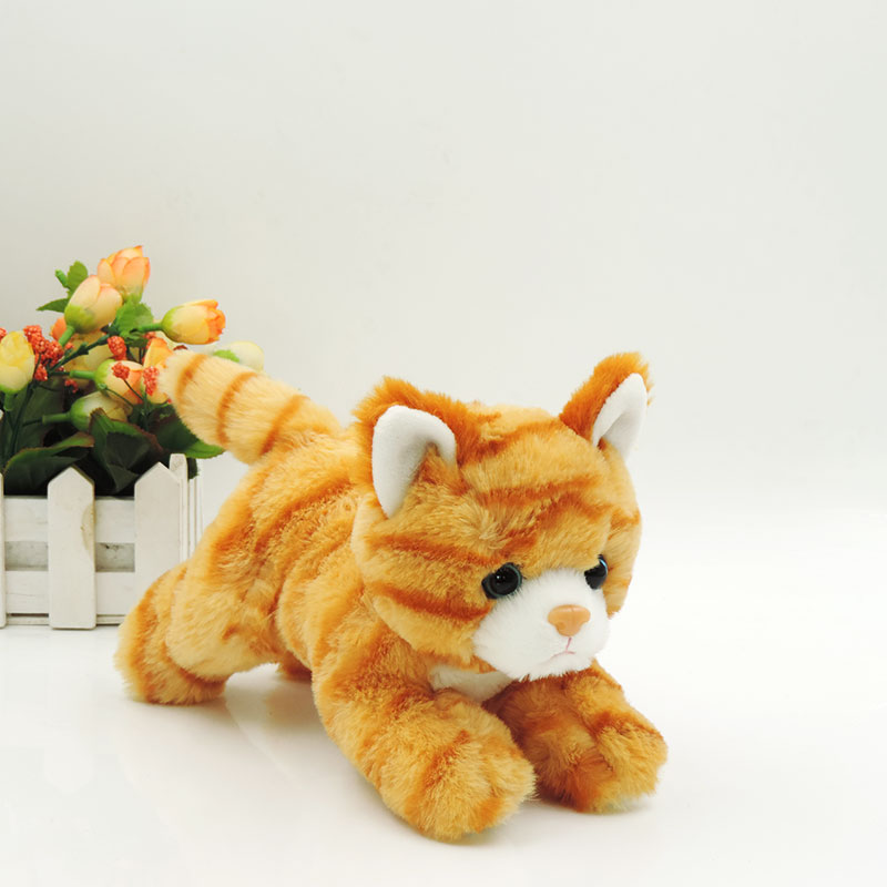 20cm Small White Cat Plush Toys Stuffed Simulation Animals Kawaii