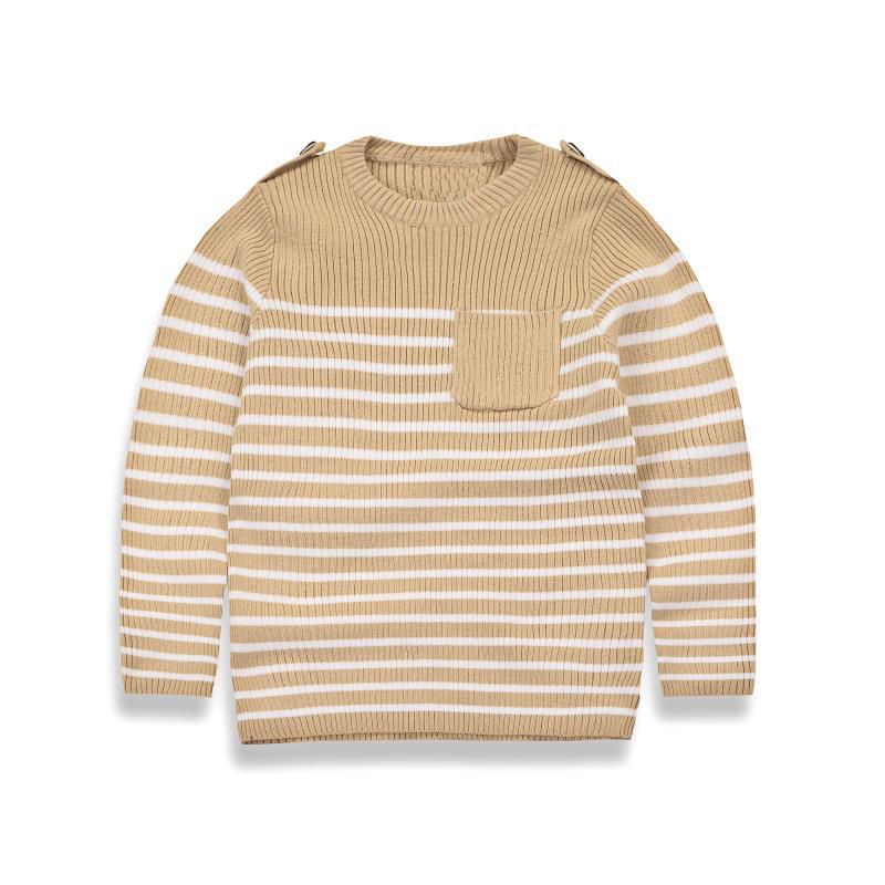 2017 Autumn Baby Boys Sweater Toddler Boy Jumper Knitwear Striped Long-Sleeve Warm Pullover Children's Sweater Kids Clothing