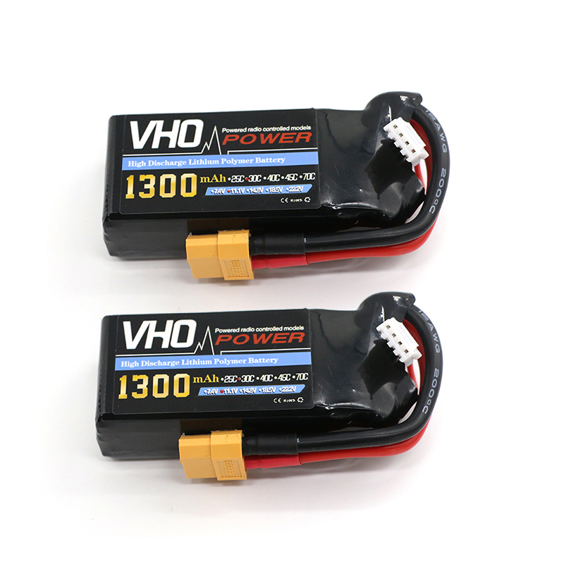VHO 2PCS 3s lipo battery 11.1V 1300mah 30C For Quadcopters Helicopters RC Cars Boats High Rate batteria lipo car parts