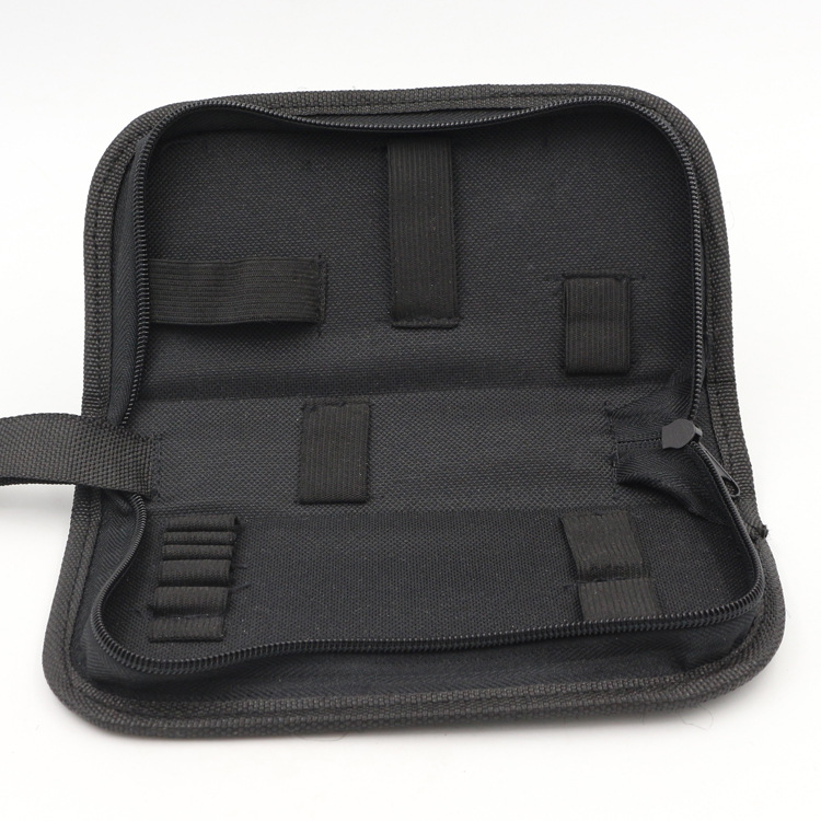 Black Multi-functional Canvas Watch Repair Portable Tool Bag Zipper Storage
