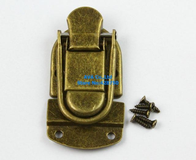 10 Antique Brass Decorative Hasp Jewelry Box Hasp Latch Lock 34x65mm