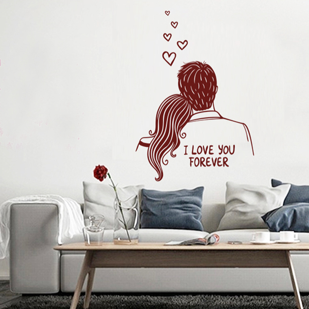 wall stickers living room bedroom marriage room layout