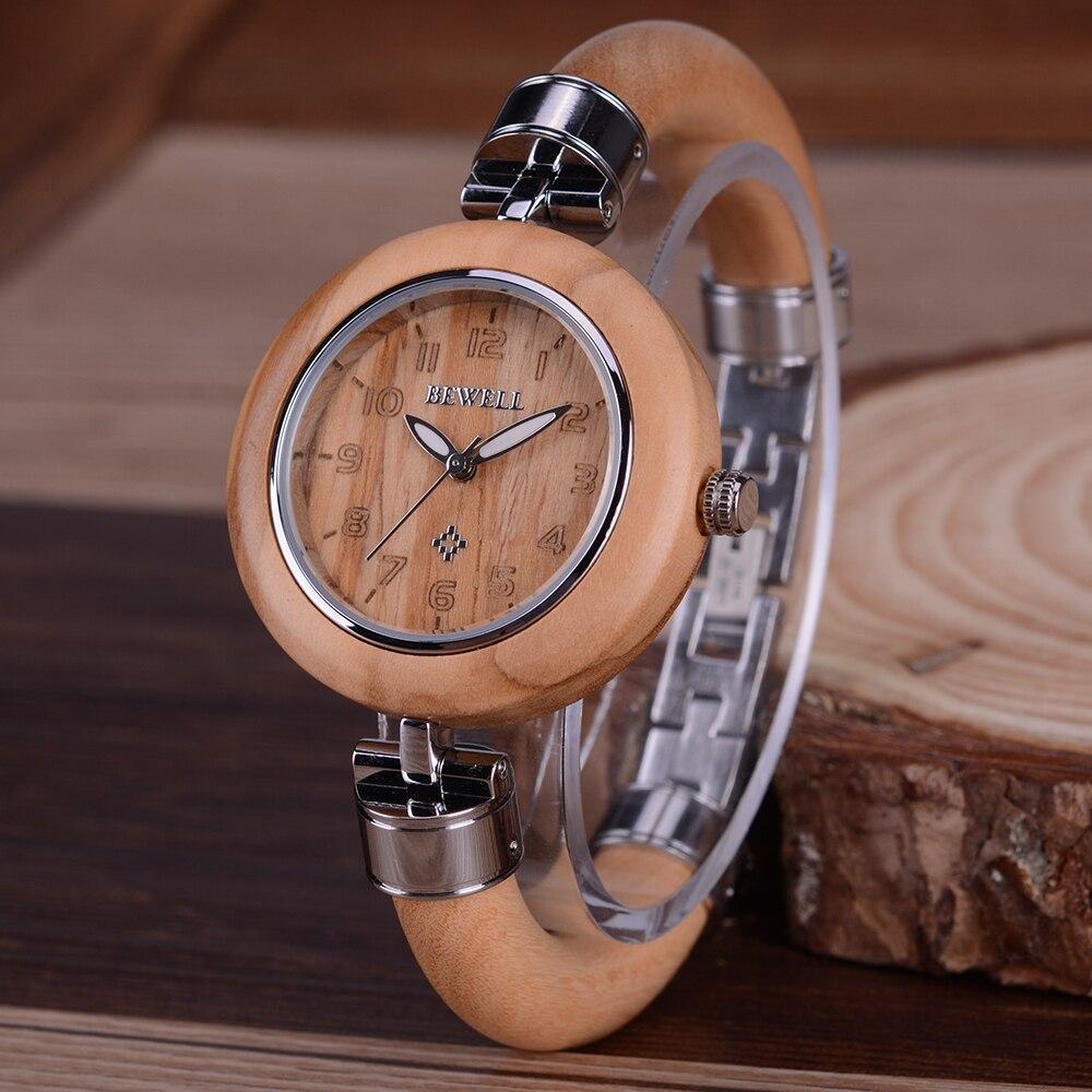 BEWELL femmes montre en bois dames de mode marque Street Snap luxe femme bijoux montre-bracelet chronographe livraison directe 151a