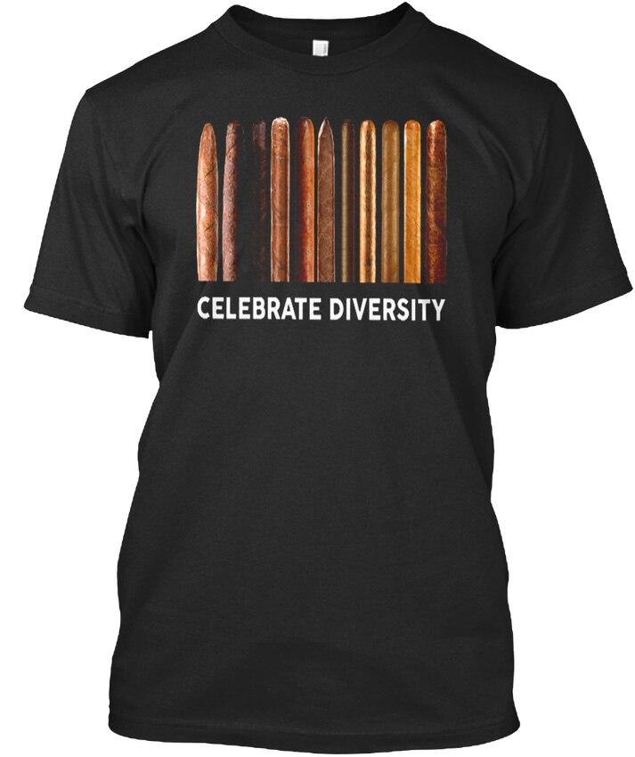 Cigars Lovers Cleberate Diversity - Celebrate Premium Tee T-Shirt