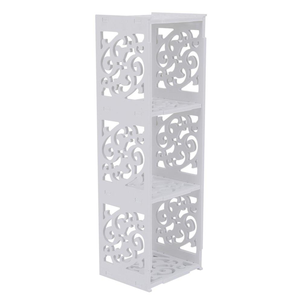 kopen goedkoop huishoudelijke drie grids wpc hout holle gesneden cd dvd opslag boekenkast stand rack organizer container diversen houder prijs