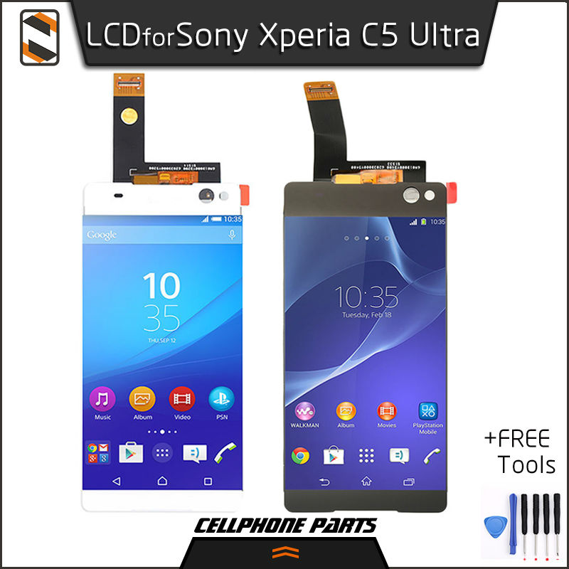 ФОТО LCD Display for Sony Xperia C5 Ultra Dual E5506 E5533 E5553 E5563 LCD Display Touch Screen with Digitizer Complete Assembly+Tool