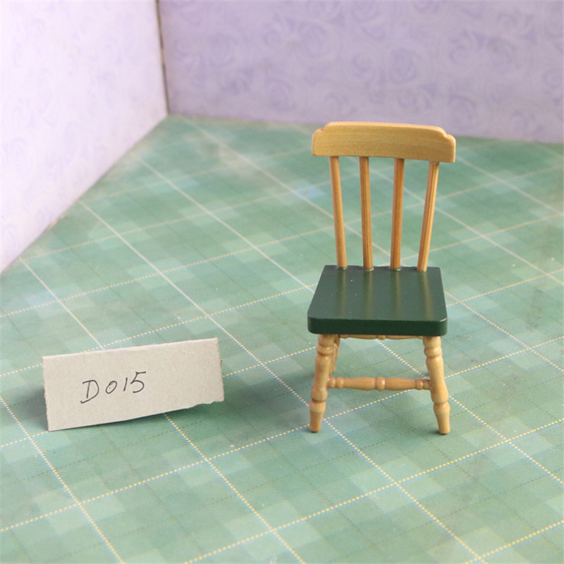 Doub K 1:12 furniture toy miniature dollhouse kawaii wooden chair girls children kid pretend play toys gifts Furniture for dolls