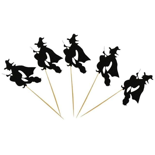 Halloween Paper Witch Cake Topper Cupcake Cake Decorations Diy ...