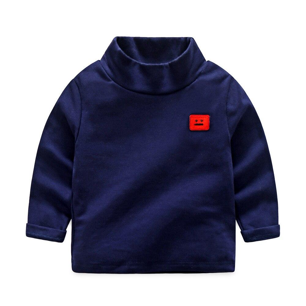 2017 new Autumn boys girls turtleneck sweatshirts Hoodies Solid color Cotton Bottoming shirt toddler kids T shirt clothing