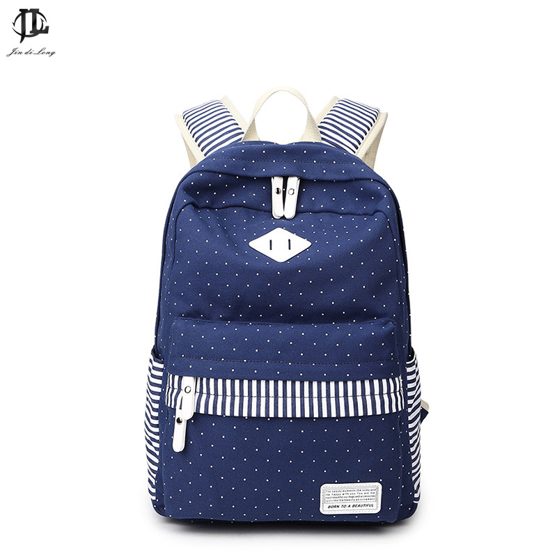 Hot Sale Canvas Women backpack Big Capacity School Bags For Teenagers Printing Backpacks For Girls Mochila