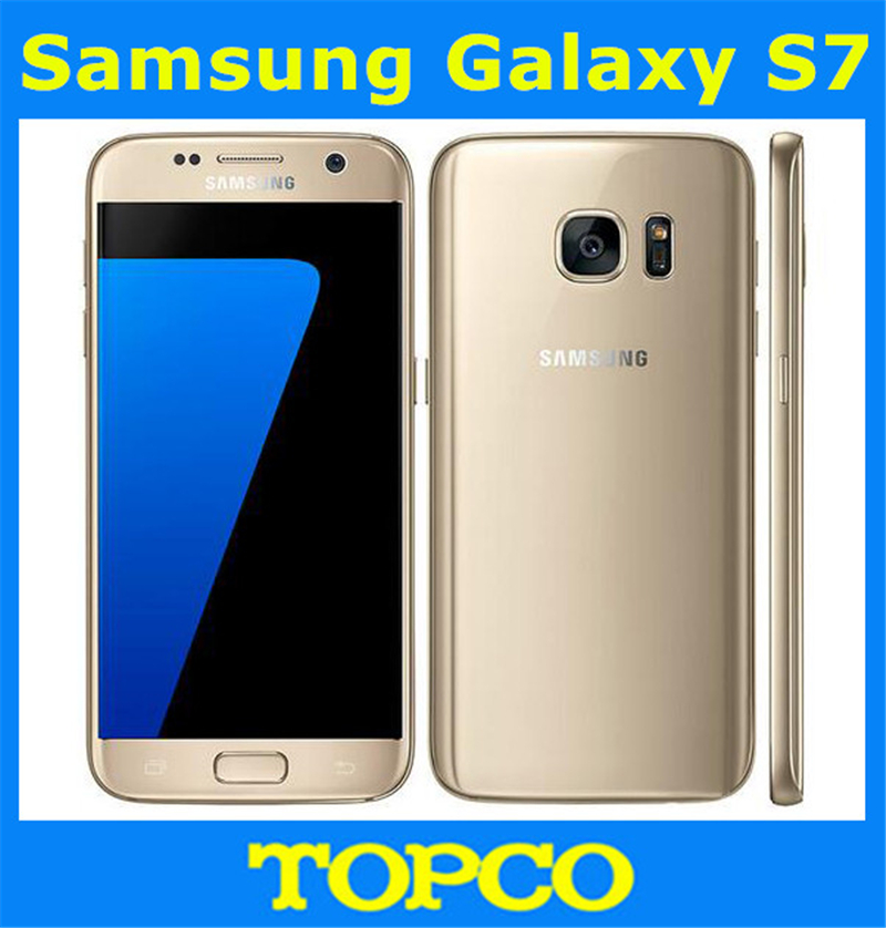 "Цена за Samsung Galaxy S7 G930F Оригинальный Разблокирована 4 Г LTE GSM Android Мобильный Телефон Окта Ядро 5.1 ""12MP RAM 4 ГБ ROM 32 ГБ Dropshipping"