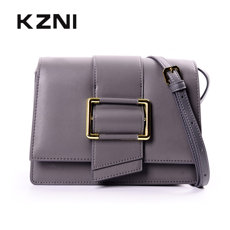 KZNI Women Handbag Genuine Leather Small Bags for Women Ladies Purse Purses and Handbags Sac a Main Femme Pochette 9043