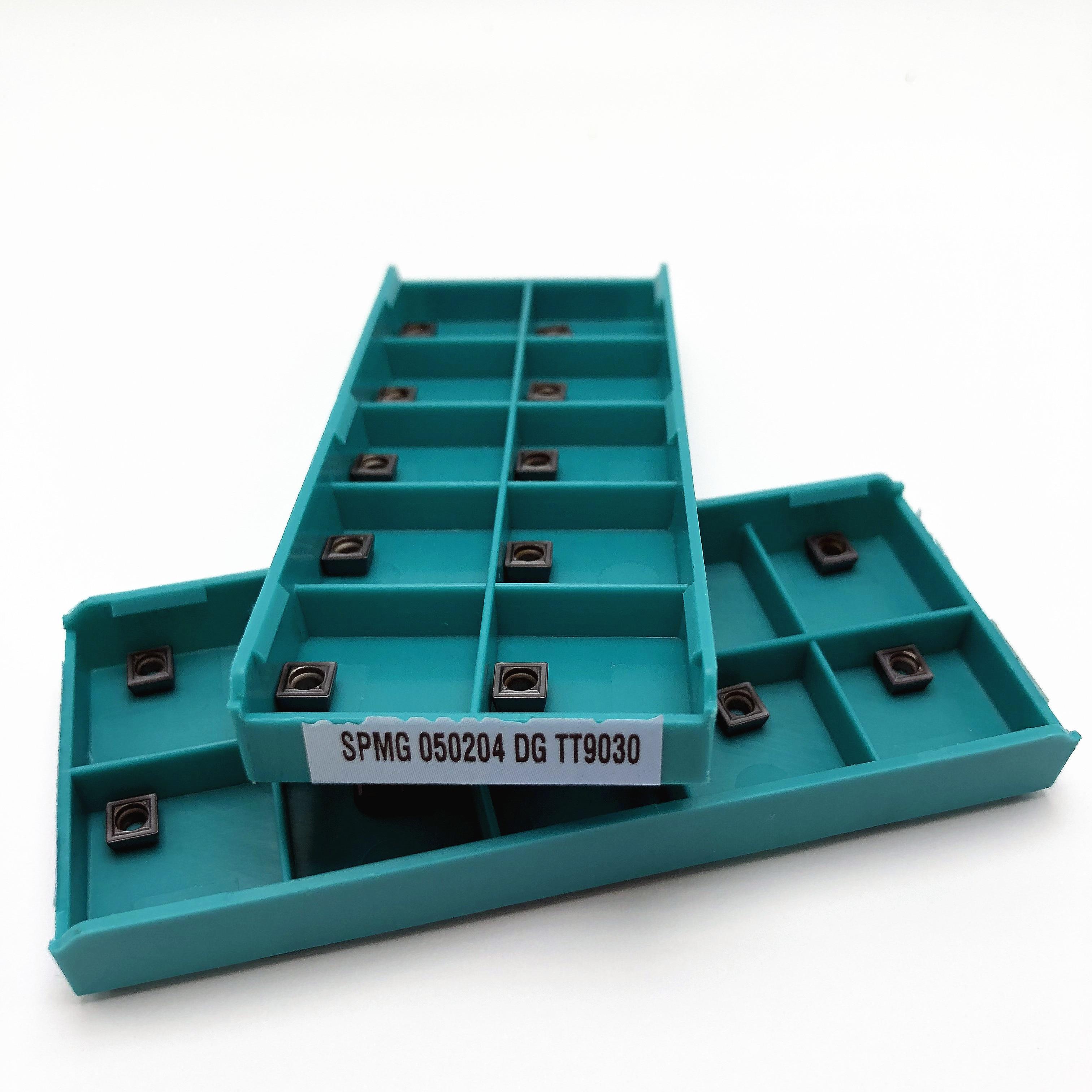 Tungsten Carbide SPMG 050204 DG TT9030 / TT8020 CNC Lathe Slotting Tool SPMG050204 Carbide Blade Turning Tool