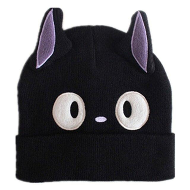 2895391c3978d0 Kiki Delivery Service JiJi Cosplay Black Cat Knitting Knitted Plush Hat  Studio Ghibli Miyazaki Kiki's Delivery Cat Adult Kid Cap