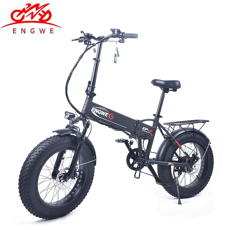 Electric bike 20″ 4.0 inch Aluminum Foldable electric Bicycle 48V10.4A 350W Electric Fat Tire ebike Mountain/Snow Powerful ebike