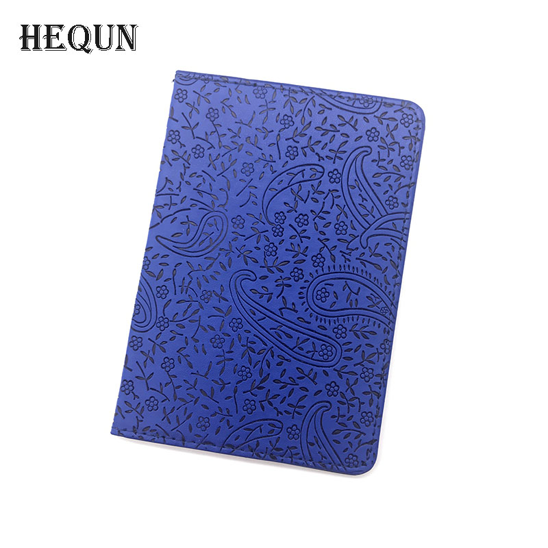 Ladies Floral On Ther Passport Cover Women Fashion Credit Card Passport Holder Girls Quality Pu Leather Passport Case Protection