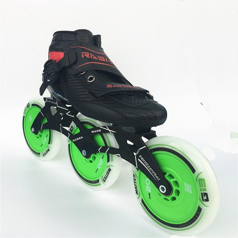 Skate-schuhe Sanft 100% Original Rasha Vollcarbon Inline Skate Schuhe Mit 125mm Räder Die Nieren NäHren Und Rheuma Lindern Sport & Unterhaltung