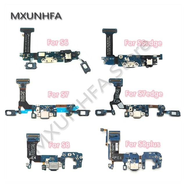10 pièces USB chargeur Port de charge Dock connecteur câble flexible pour Samsung Galaxy S6 S7 bord S8 S9 plus G920F G925F G930F G935F G950F
