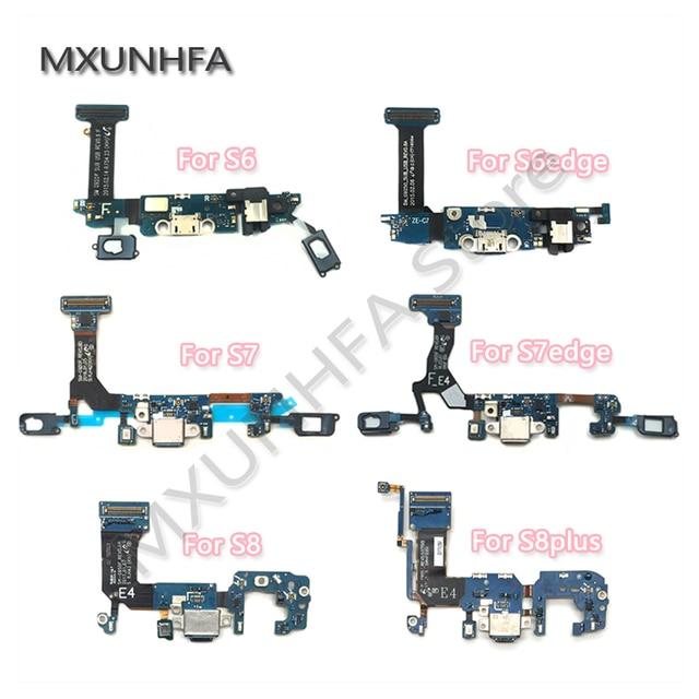 10 個の usb ポート Dock コネクタ充電フレックスケーブルサムスンギャラクシー S6 S7 エッジ S8 S9 プラス G920F g925F G930F G935F G950F