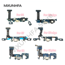 10pcs USB Charger Charging Port Dock Connector Flex Cable For Samsung Galaxy S6 S7 edge S8 S9 plus G920F G925F G930F G935F G950F