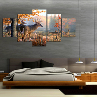 New 5 Pieces Sets Canvas Art HD Beautiful Deers Canvas Paintings Decorations For Home Wall Art