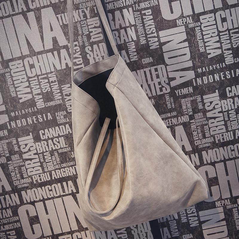 Prix pour ANAWISHARE Designer Femmes Sacs À Main En Cuir Grand Épaule Sacs Gris Femelle Fourre-Tout Sacs Bolsa Feminina 2 Bags/Set