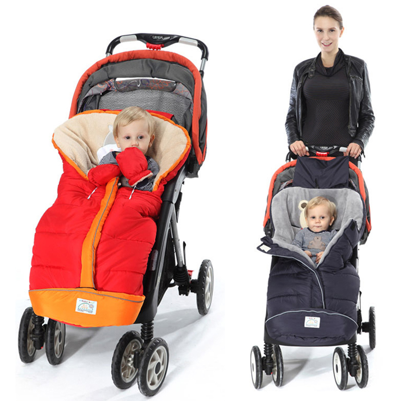 2018 Winter Baby Stroller Sleeping Bags Warm Envelope For Newborn Infant Windproof Cocoon Stroller Sleepsacks Footmuff