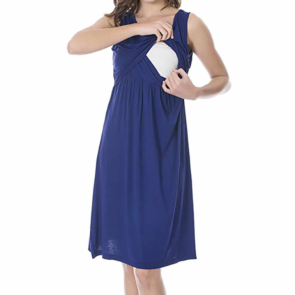 7eb0a4e6593e3 ... Telotuny women clothing Casual Sleeveless summer nursing dress  maternity dresses photography props Breastfeeding Dress JL 20 ...