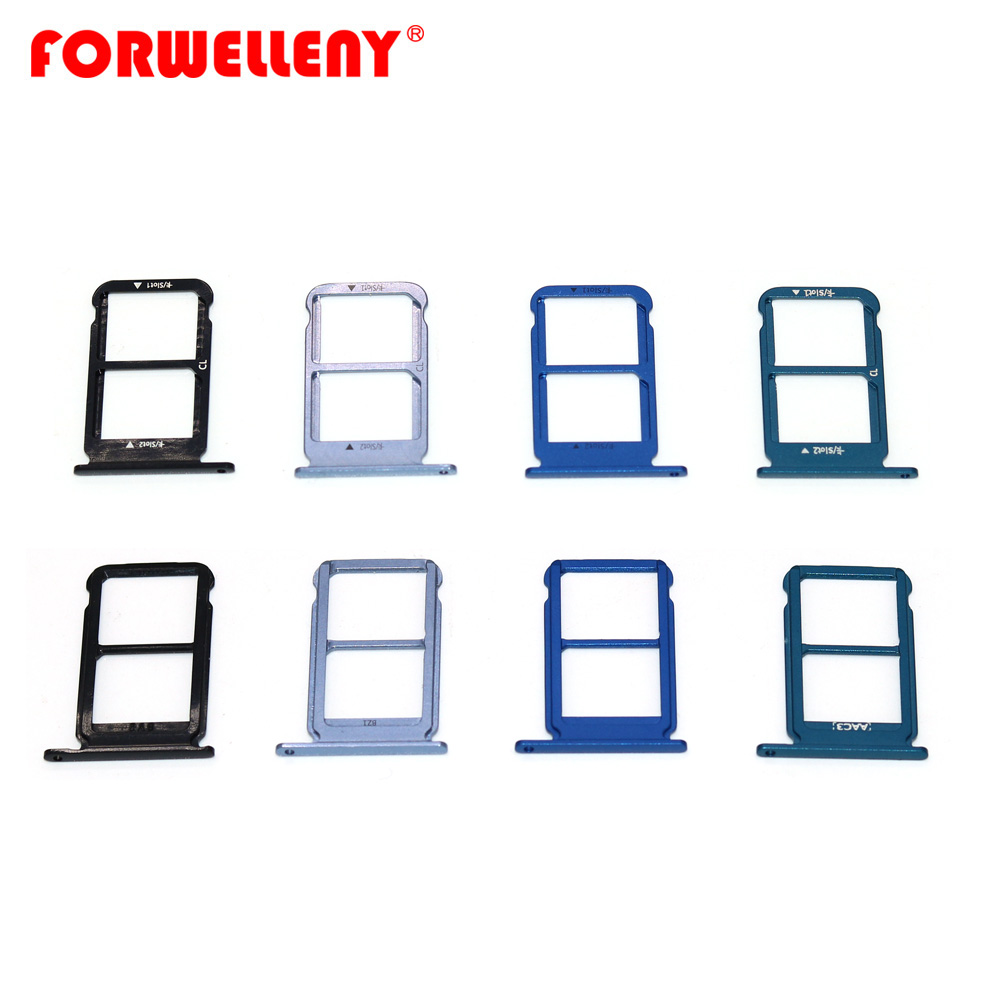For Huawei Honor 10 Honor10 Micro Sim Card Holder Slot Tray Replacement Adapters Black, Blue,gray, Purple