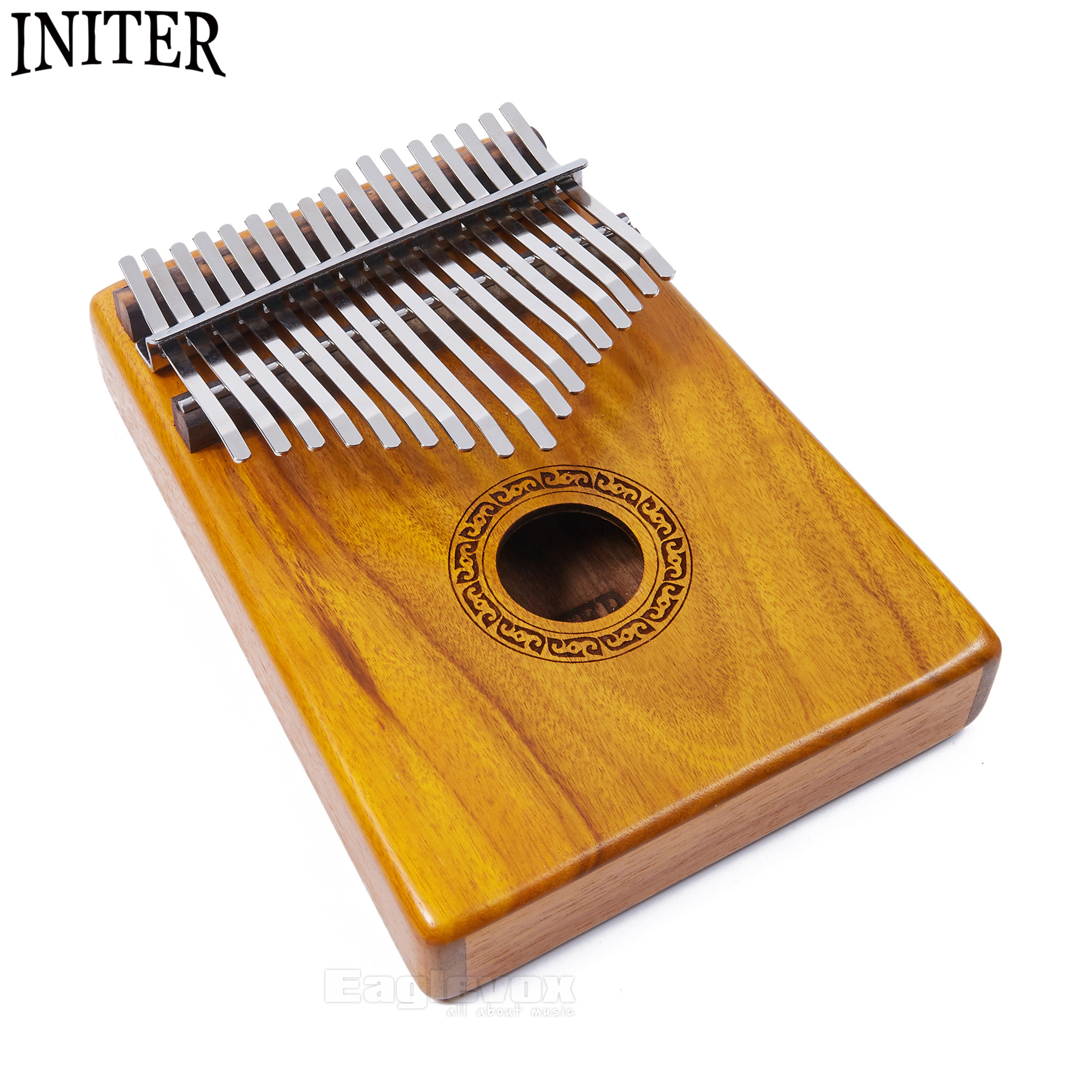 Initer Kalimba 17 Keys Acacia Thumb Piano Traditional African Music Instrument With Free Carry Bag and Tuning Tool 17 Notes велосипедная корзина acacia mtb 5 5 bl bag acacia