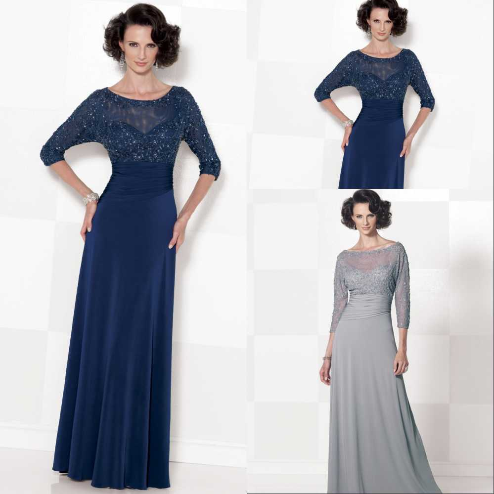 2016 New Stock Plus Size Women Bridal Gown Wedding Dress: Gray A Line Plus Size Mother Of The Bride Dresses 2016 3/4