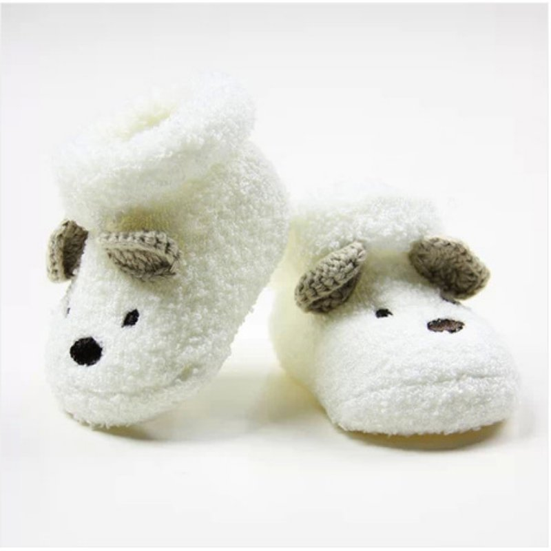 0 -12 Month Newborn Baby Socks Unisex Boy Girls Cute Bear Crib Warm Shoes Toddler bebe Sapatos
