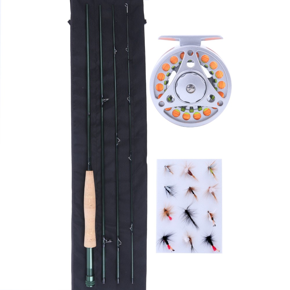 Maximumcatch Fishing Combo 8'4 3WT Fly Rod with Aluminum Fly Reel + Fly Line + Flies. beayukmui