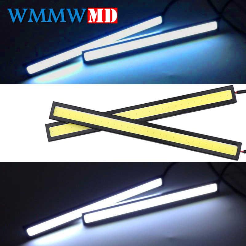 Car Styling 1Pcs 17cm Universal COB DRL LED Daytime Running Lights Car Lamp External Lights Auto Waterproof Fog lamp 12V white