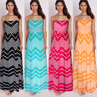 Women Summer Bohemian White Beach Dress Loose FlareFemale Sleeveless Beachwear Boho Dresses
