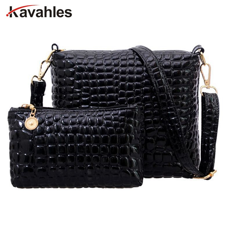 2PCS Women Bags 2017 New Fashion Bag Handbags Fashion Handbags Messenger Shoulder Bag Crocodile PU Leather bags  F40-664 10pcs reflection ir obstacle avoidance module sensor for arduino lm393 infrared intelligent speed movement car detector robot