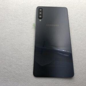 Image 3 - מקורי עבור Samsung Galaxy A7 2018 חזור סוללה כיסוי A750 מקרה A750F SM A750 אחורי דלת שיכון זכוכית פנל החלפת חלקים