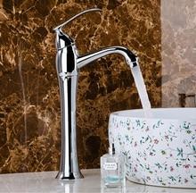 New arrival wysokiej jakości stali nierdzewnej chrom kończący łazienka wysoki kran zlew bateria umywalkowa z kranu