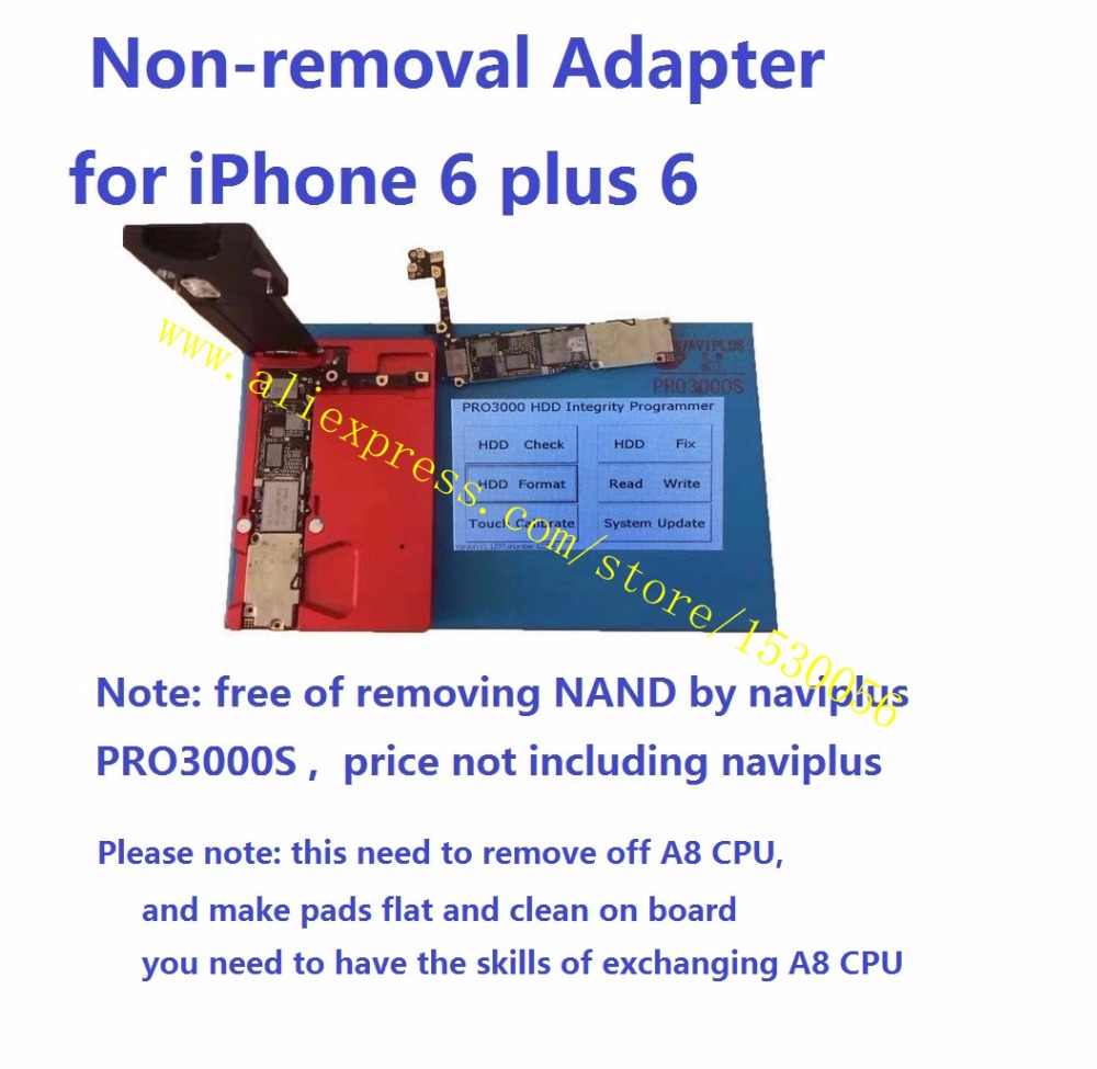 Non Removal Adapter For Iphone 6 Plus 6p 6g Free Of Removing Off Board Holder Repair 7p Qianli You Need To Have The Skills Exchanging A8 Cpu