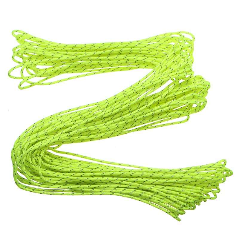 1PC 20 Meters Green Nylon Cord Super Strong Tent Rope Guy Line Camping Cord Paracord for DIY Crafts Accessories Rope