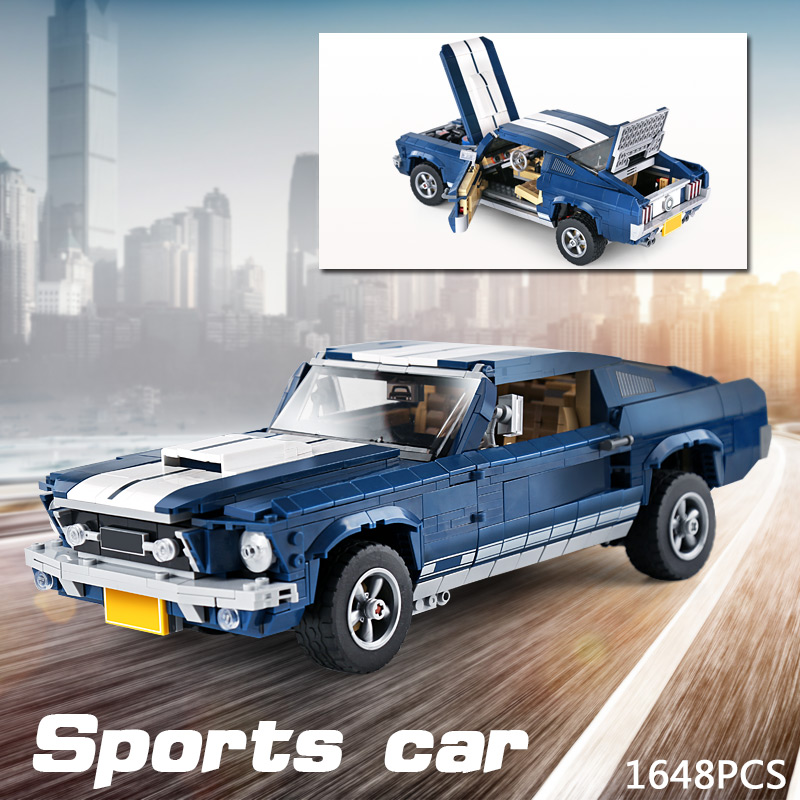 21047 DHL Expert Mustang Car model Compatible With 10265 Assembly Car Model Toys Building Blocks Bricks